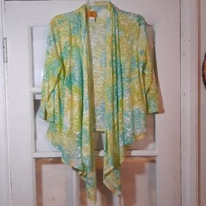 Nwot Asymmetrical open cardigan cover up